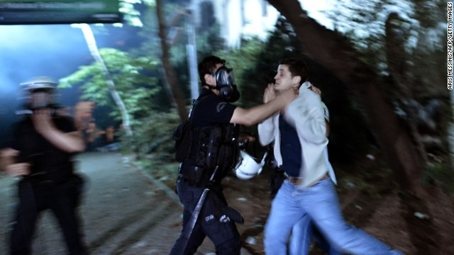 Police violence during the protests in Turkey