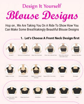 1000s of Super Amazing DIY Blouse Designs [Infographic]