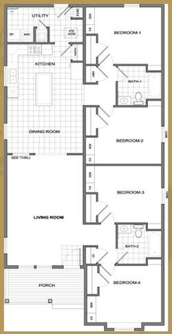 plan 4 bedroom 2 bath needs fireplace and a finished basement