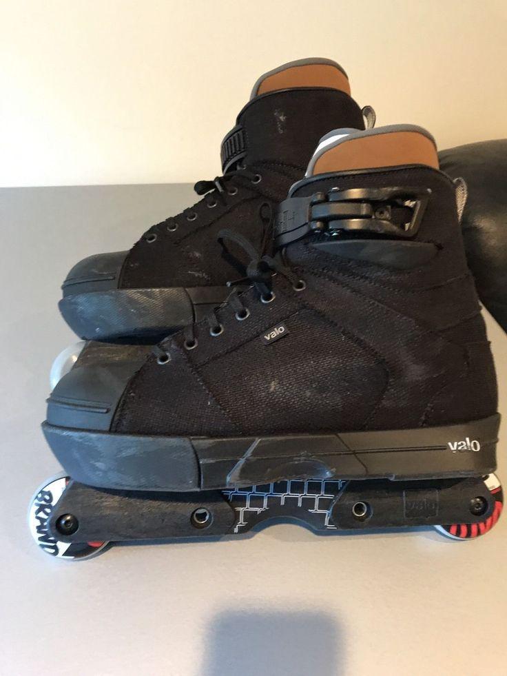Valo JJ Hemp Aggressive Inline Skates Size 10 Black