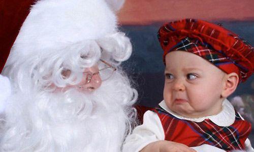 Αστείες φωτογραφίες παιδιών με τον Άι Βασίλη