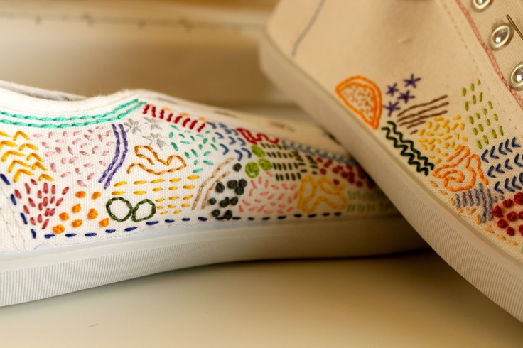 embroidered sneakers