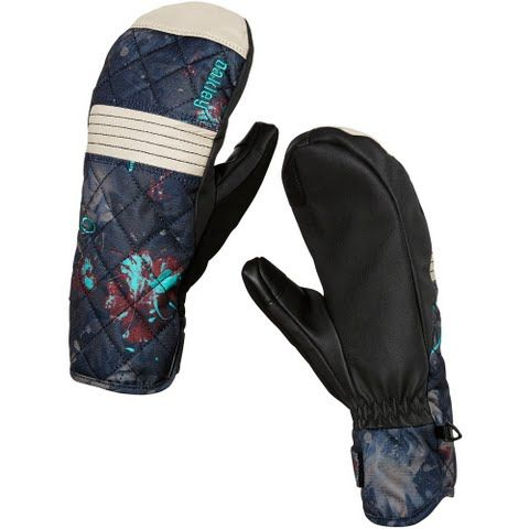 Oakley Women's Silver Fir Mittens - Navy Floral: Comfort and protection make the Silver Fir Mitts the ones to… #OutdoorGear #Camping #Hiking