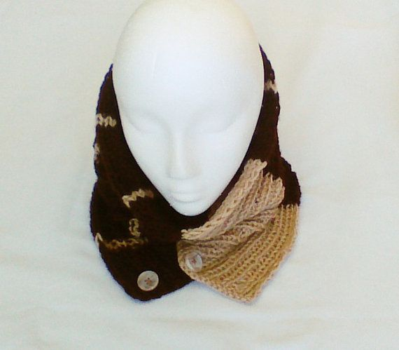 Hey, I found this really awesome Etsy listing at https://www.etsy.com/listing/177427510/brown-beige-cream-hand-knit-cowl