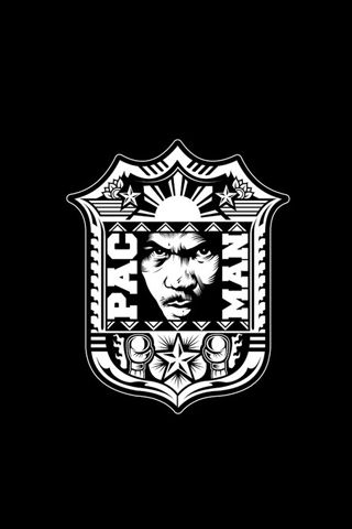 Manny Pacquiao Manny Pacman Black Crest Android Wallpaper HD