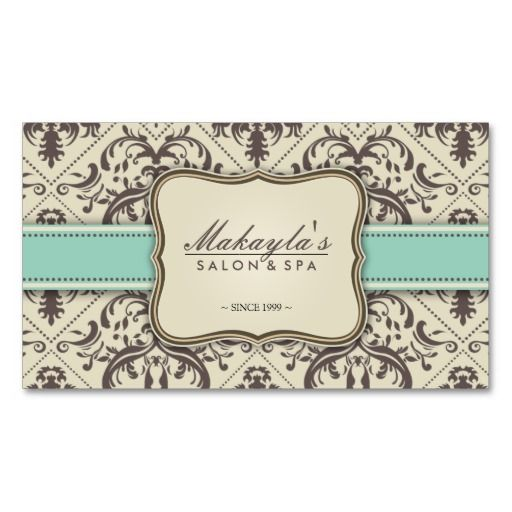 Elegant Damask Modern Brown, Green and Beige Business Card Templates. This great business card design is available for customization. All text style, colors, sizes can be modified to fit your needs. Just click the image to learn more!