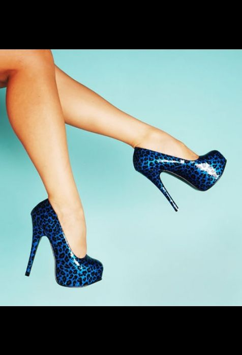Blue Leopard Platforms!!!