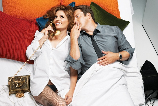 Stana Katic and Nathan Fillion as Castle and Beckett in the new Entertainment Weekly Photo Shoot