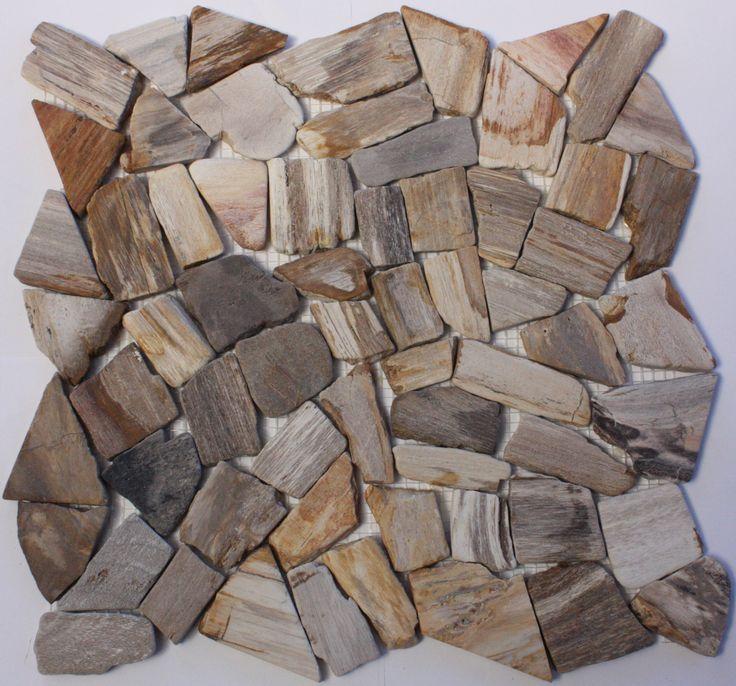 Petrified Wood Mosaic tile