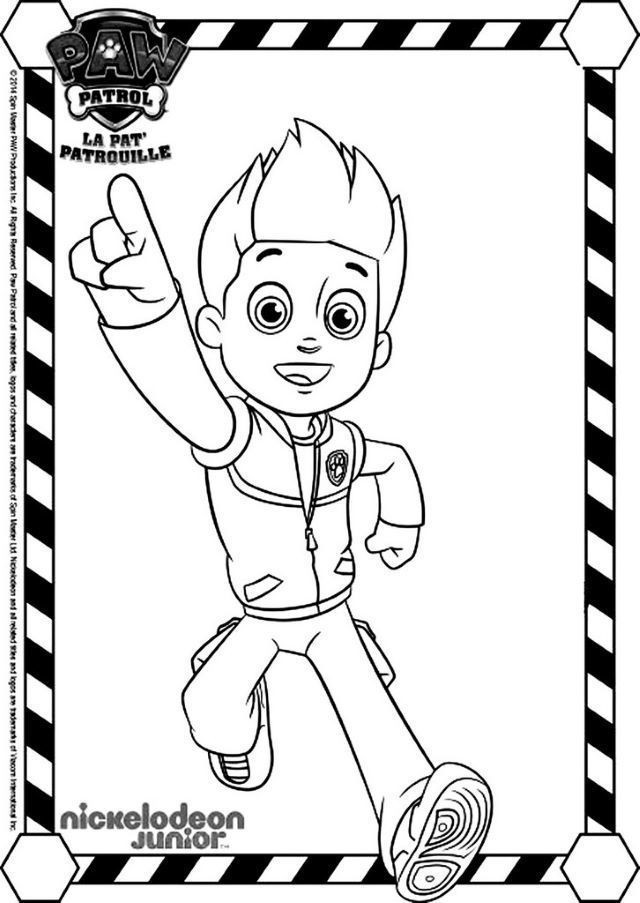 Coloriage Ryder Pat Patrouille Paw Patrol Coloring Coloring