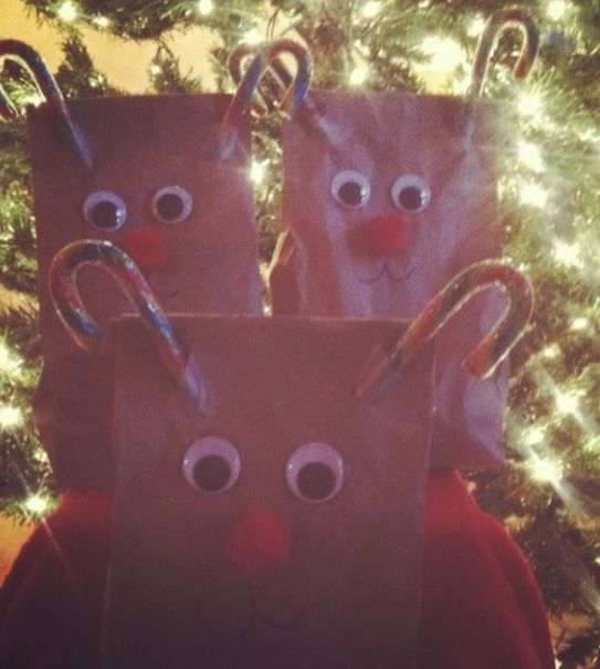Christmas goody bags #christmascraft#goodybags