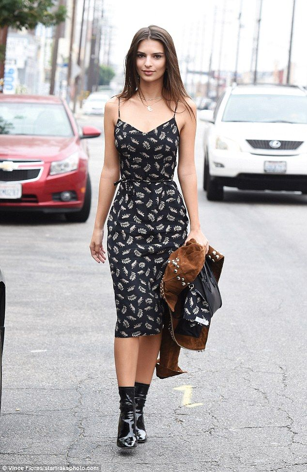 Forever chic: Emily Ratajkowski showed off her fabulous body and fashion prowess in Los Angeles on Saturday