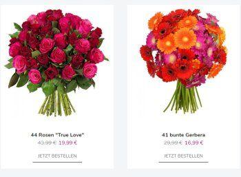 """Blumeideal: 44 rote Rosen für 24,98 Euro inklusive Versand https://www.discountfan.de/artikel/technik_und_haushalt/blumeideal-44-rote-rosen-fuer-2498-euro-inklusive-versand.php Einen Blumentstrauß mit 44 roten Rosen kann man sich ab sofort bei Blumeideal für 24,98 Euro mit Versand sichern – mit dabei ist die Frischegarantie von sieben Tagen. Blumeideal: 44 rote Rosen für 24,98 Euro inklusive Versand (Bild: Blumeideal.de) Der Strauß mit 44 roten Rosen """"True."""