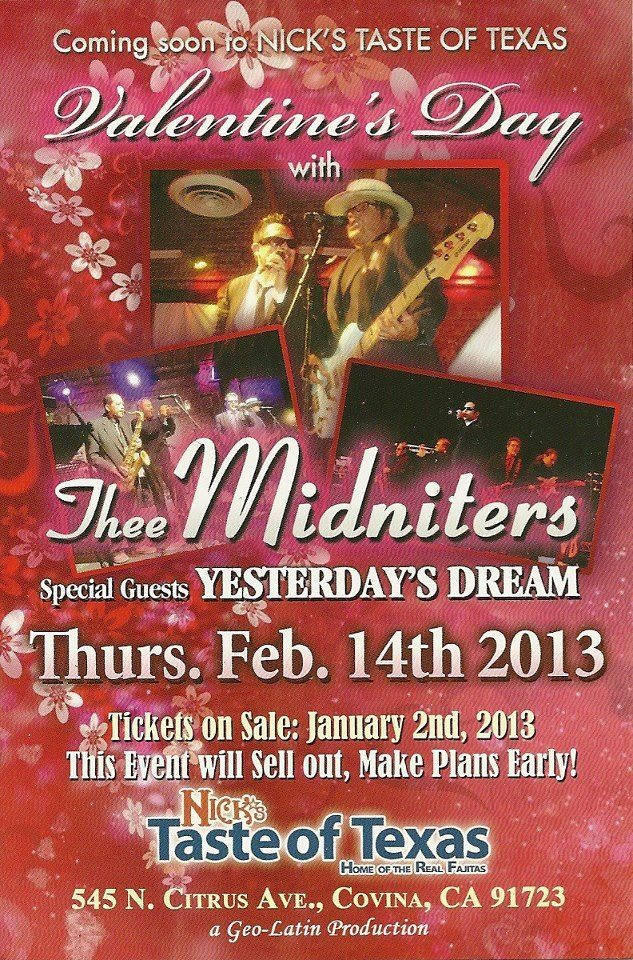 Valentine's Day 2013 with Thee Midniters