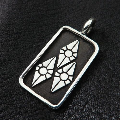 Silver Rarity pendant by TheSunkenCity on Etsy