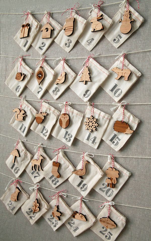 DIY idea | Advent calendar . Adventskalender . calendrier de l'avent | Design & photo: the style files |