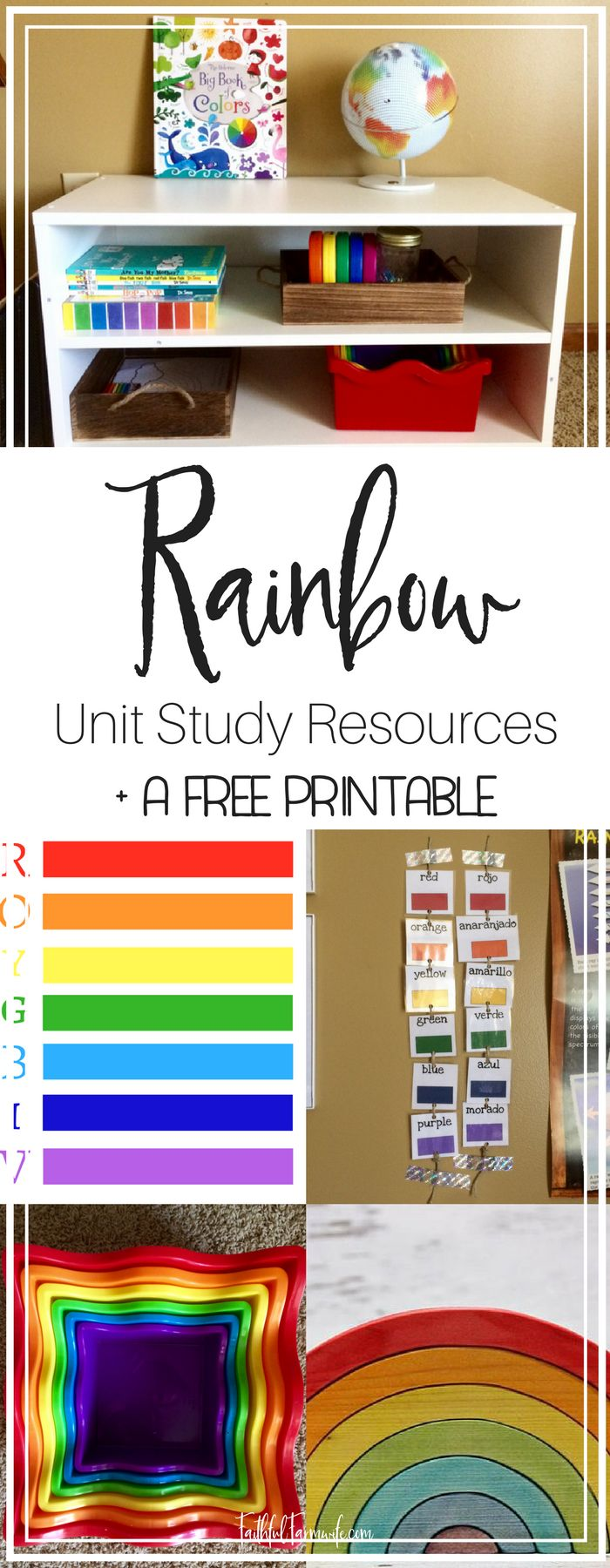 A Rainbow Unit Study is perfect for the springtime! Check out these awesome rainbow resources that you can use!