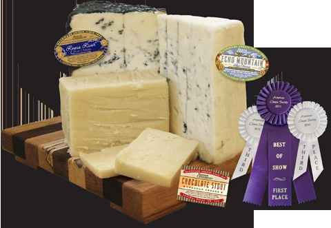 Enjoy handcrafted prize-winning cheeses at Rogue Creamery in Central Point, Oregon