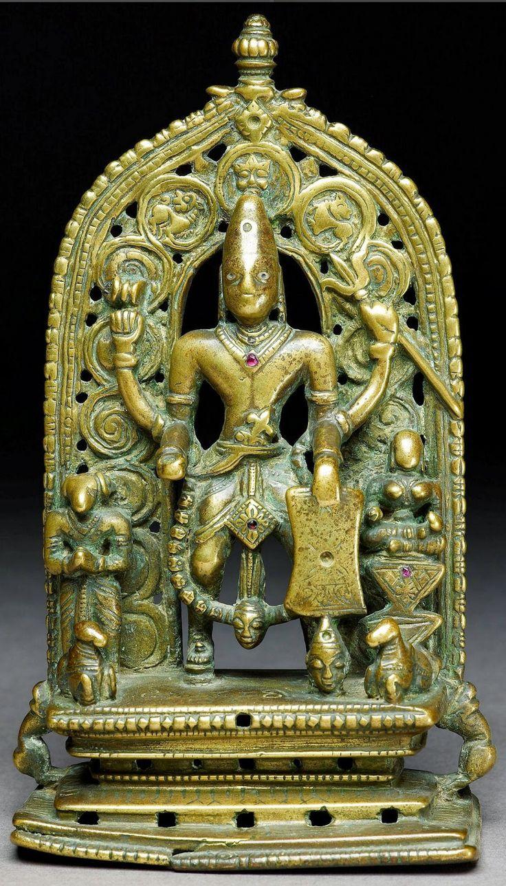 Shiva as Virabhadra - Brass Sculpture, Karnataka, 16th-17th Century