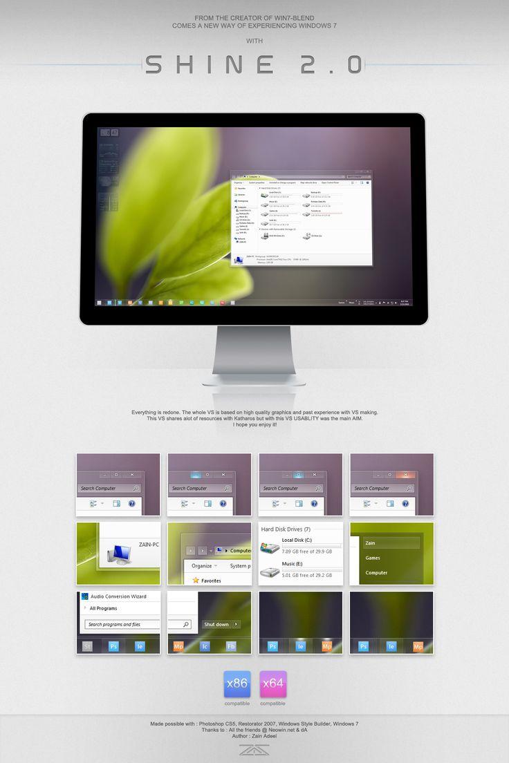 Shine 2.0 for Windows 7 by zainadeel.deviantart.com on @deviantART