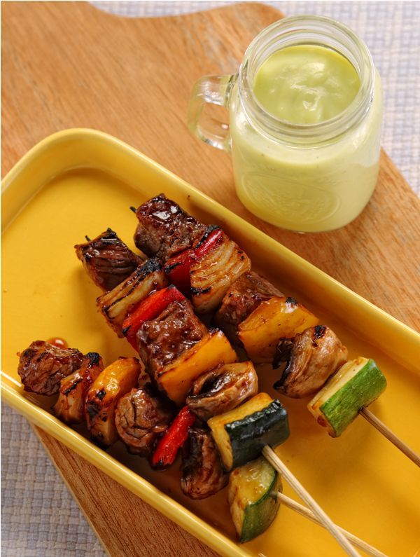 Daging Saus Avokad :: Avocado Sauced Meat in Barbeque Style