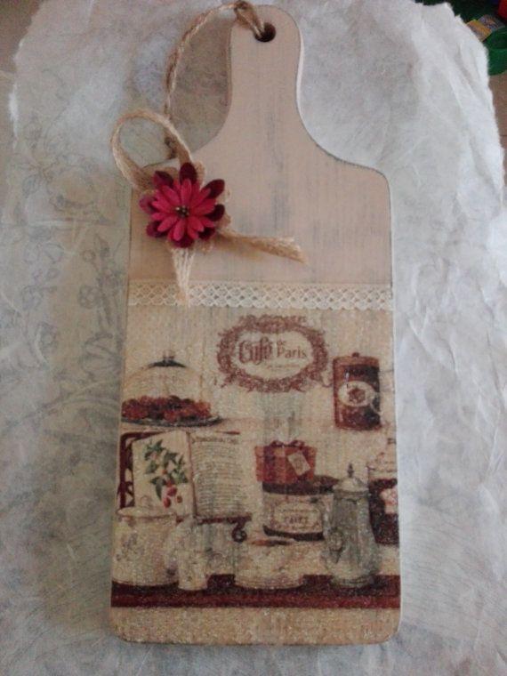 Shabby Chic Chopping Board by DecoupageIdeas on Etsy