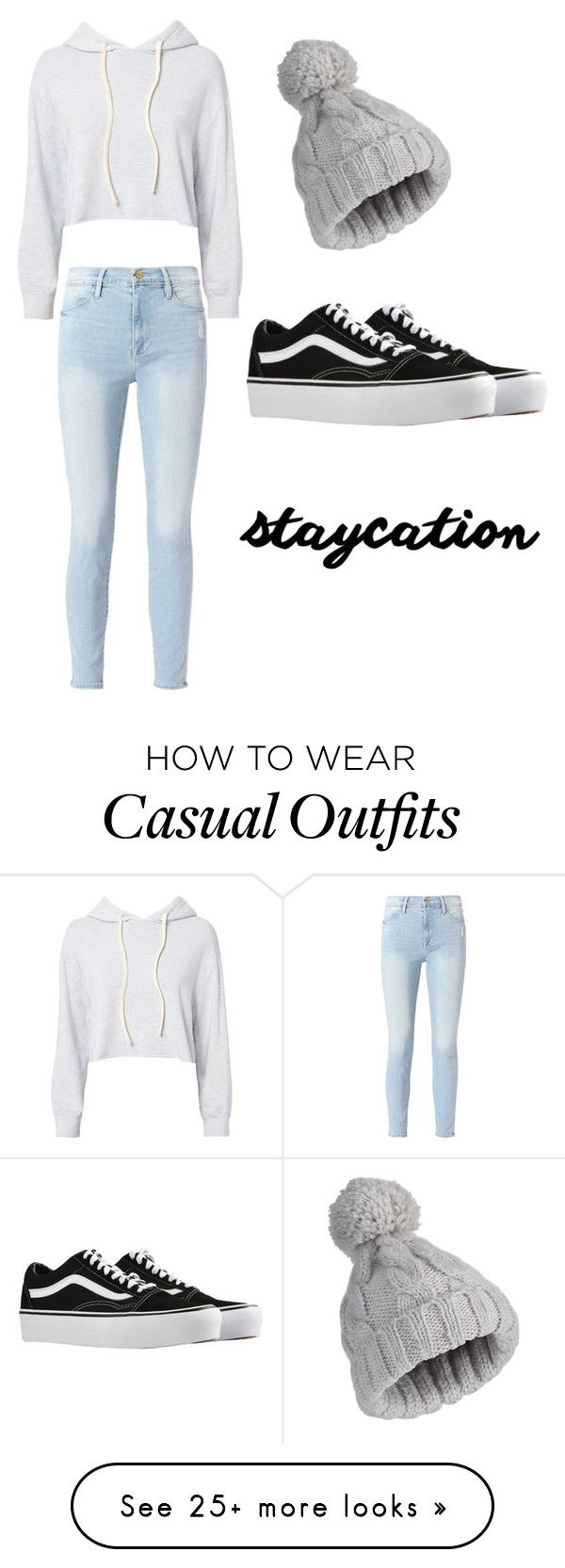 """Casual "" by lucyjlevi on Polyvore featuring Monrow, Frame, Miss Selfridge and Vans"