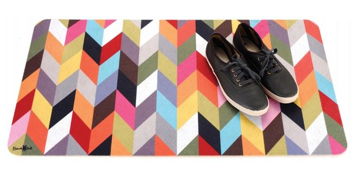Patterned Floor Mat / French Bull #home