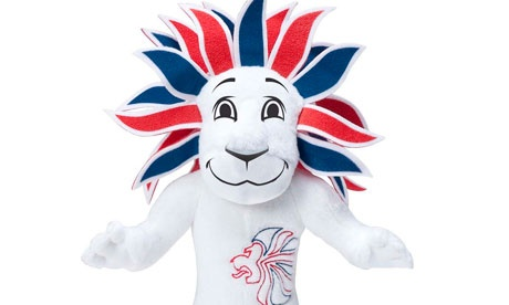 pride the lion, team gb mascot