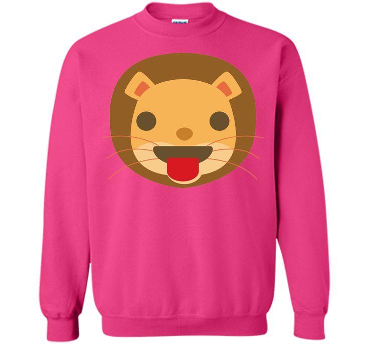 Funny Lion Emoji Tongue Out T-Shirt