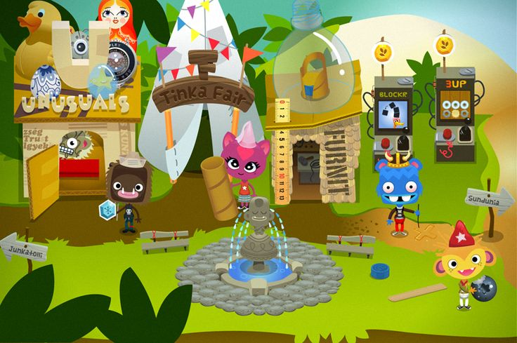 All-encompassing Illustration and design of tinkatolli.com by Luke Seguin-Magee