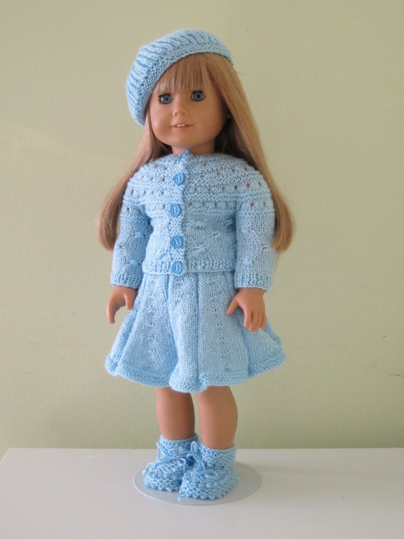 Free Knitting Patterns For Our Generation Dolls : Knitted dolls clothing....18 inches doll ...american girl ...