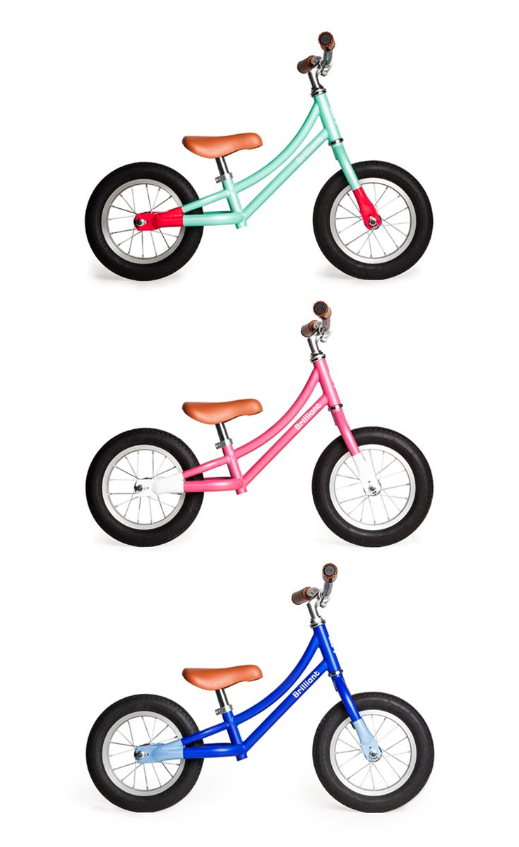 The Biddle Balance from Brilliant Bicycles. Built for toddlers learning balance and coordination. Comes with custom stitched handles, sturdy steel frame and dual color combos. Click to shop kids bicycles.
