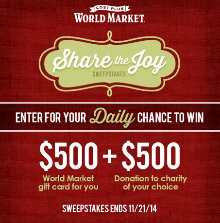 World market india sweepstakes and giveaways