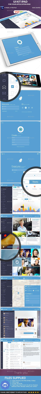 Rocket Apps UI Kit Tablet - User Interfaces Web Elements