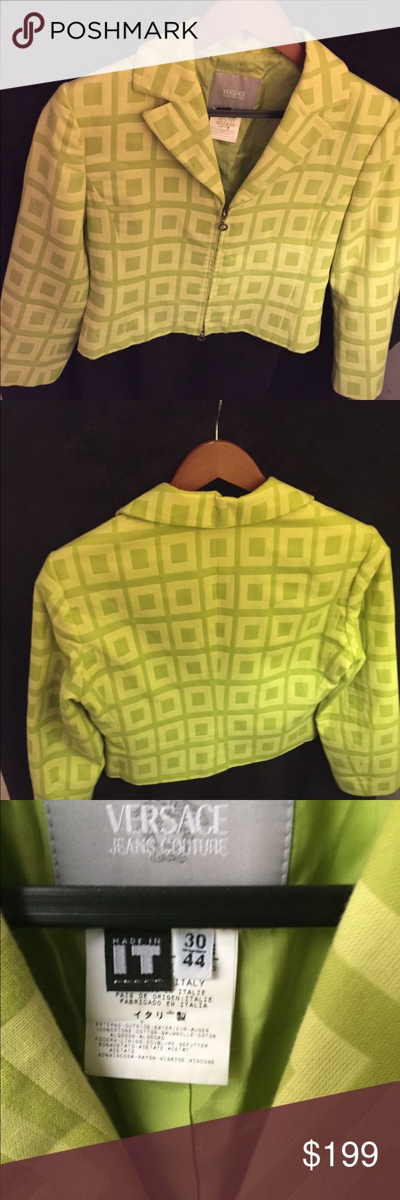 Versace Jacket Beautiful jacket worn once maybe twice. Beautiful Versace green , like new. Versace Jackets & Coats Blazers