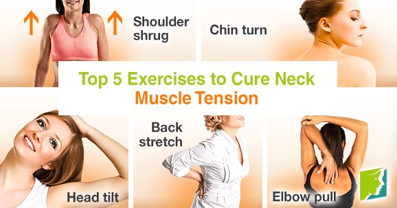 Tension in the neck muscles is a common complaint. Keep reading to discover five exercises you can do wherever you are to ease your symptoms.
