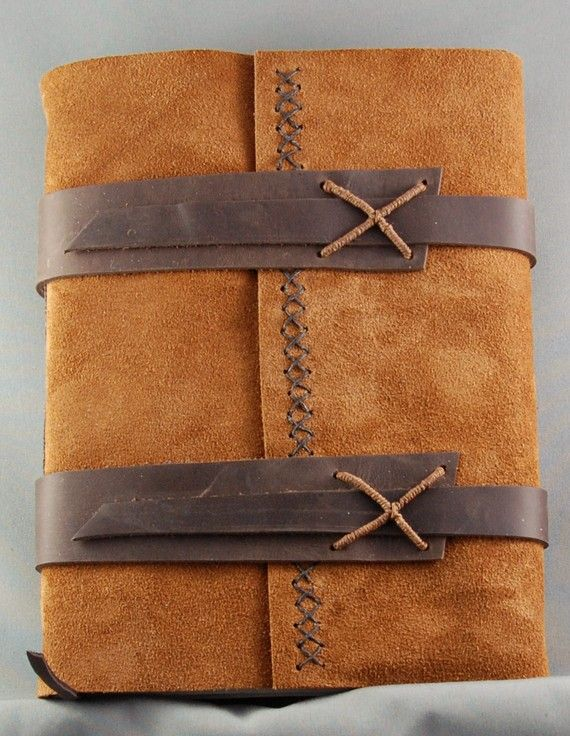 Handmade Leather Journal with Parchment door christinemarieford