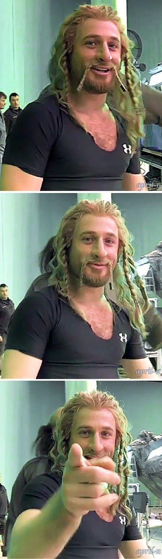 The Hobbit behind the scenes BTS - Dean O'Gorman #Fili