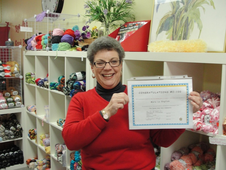 Yeah - our #100 Sunny Side Yarn Community Member - thanks for joining - Mary Lu English
