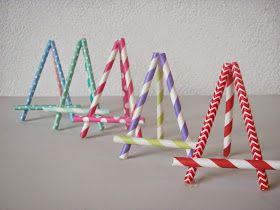 Bastelberg-Werk: Mini-Staffeleien aus Paper Straws