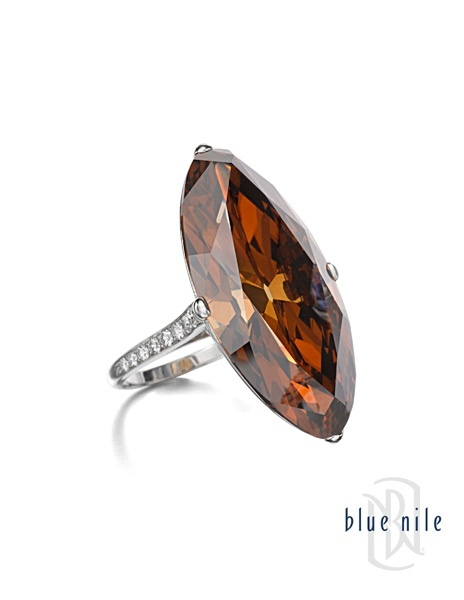 Extremely rare, 30 carat marquise-cut brown diamond. #BlueNile