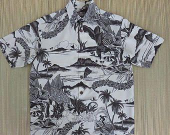 Hawaiian Shirt KAHALA Tropical Aloha Shirt Surfer Beach Boy Classic Hip Tiki Lei Pop Art Mens Camp - S - Oahu Lew's Shirt Shack