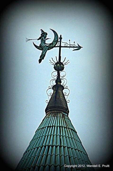 Witch weathervane