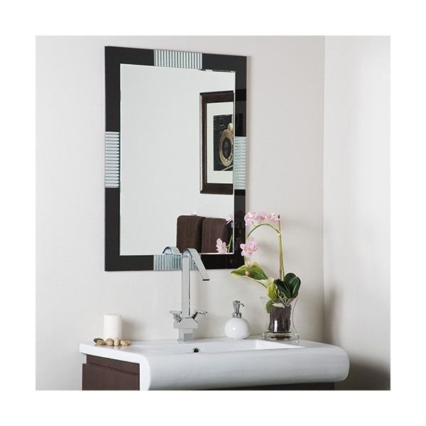 Decor Wonderland Francisco Large Frameless Mirror ($157) ❤ liked on Polyvore featuring home, home decor, mirrors, framed beveled mirror, window framed mirrors, window mirror, frameless mirror and handmade home decor