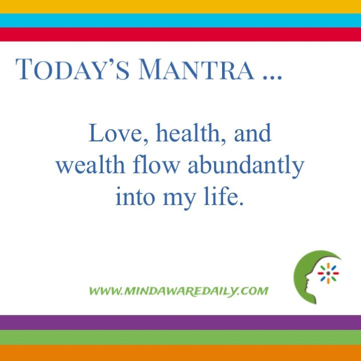 Affirmations Love   Health   Wealth