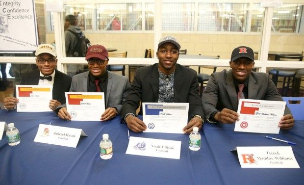 Photos: N.J. football and soccer players at National Signing Day ceremonies - NJ.com