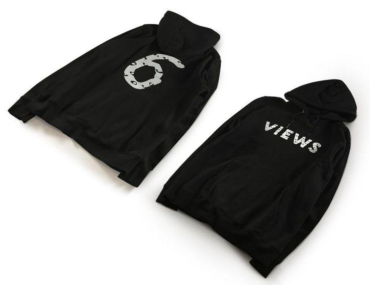 Views Six Unisex Black Hoodie - Drake Hoodie - OVO Young Money Hiphop Sweatshirt