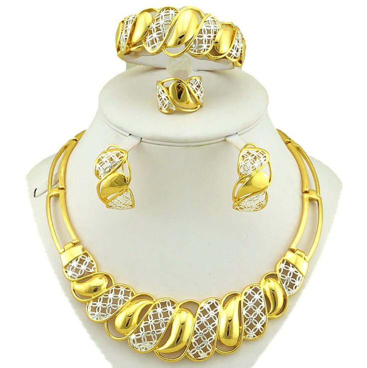 real gold plating jewelry sets african jewelry sets costume sets  big necklace gold plated jewelry set