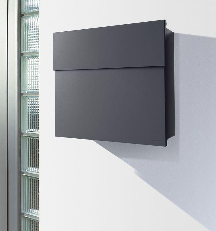 Radius Briefkasten Letterman 4 anthrazitgrau RAL 7016 Wandbriefkasten grau Eingang & Garten Briefkästen Wandbriefkästen